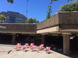 Neue Liegestühle, Tag des Guten Lebens, Köln, Juli 2018, Foto: Nadine Müseler