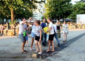 Gießaktion, Ebertplatz, Juli 2018, Foto: Helle Habenicht