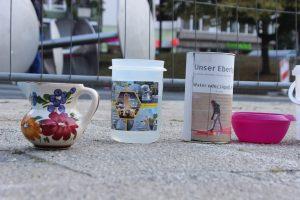 Performative Installation von Schirin Kretschmann, Ebertplatz, Juli 2018, Foto: Helle Habenicht