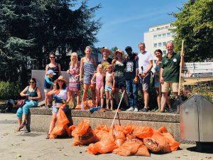 Müllsammelaktion, Ebertplatz, August 2018, Foto: Ruth Wennemar