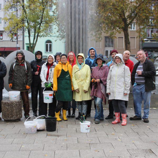 Zwiebelpflanzaktion, Ebertplatz, November 2018, Foto: Helle Habenicht