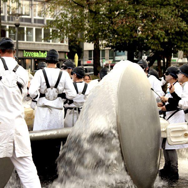 Bewegung am Ebertplatz, Oktober 2018, Foto: Helle Habenicht