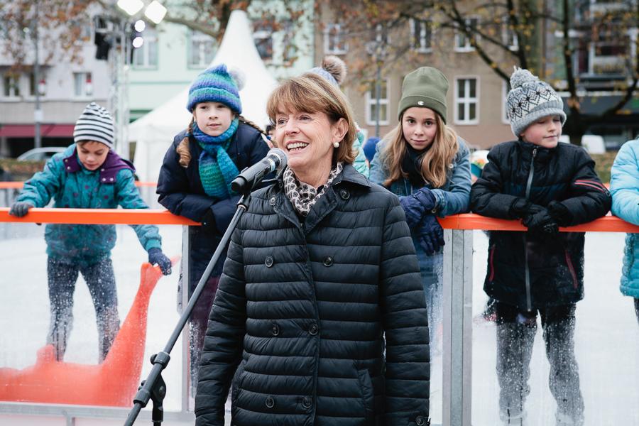 Eisbahneröffnung Ebertplatz, November 2018, Foto: Astrid Piethan