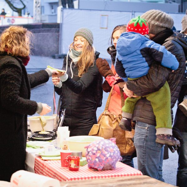 Eisbahnfamilientag, Ebertplatz, Dezember 2018, Foto: Astrid Piethan