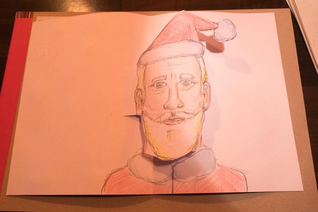 Wir zeichnen den Weihnachtsmann – Foto: Michael Nowottny