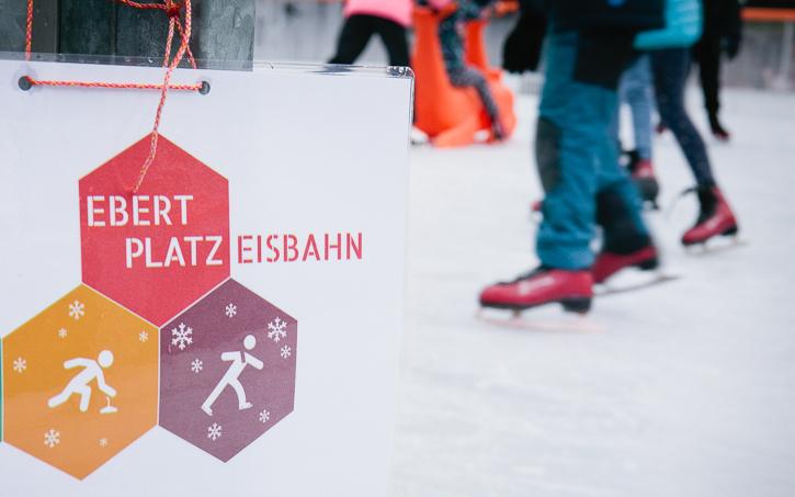 Ebertplatz Eisbahn || Foto: Astrid Piethan