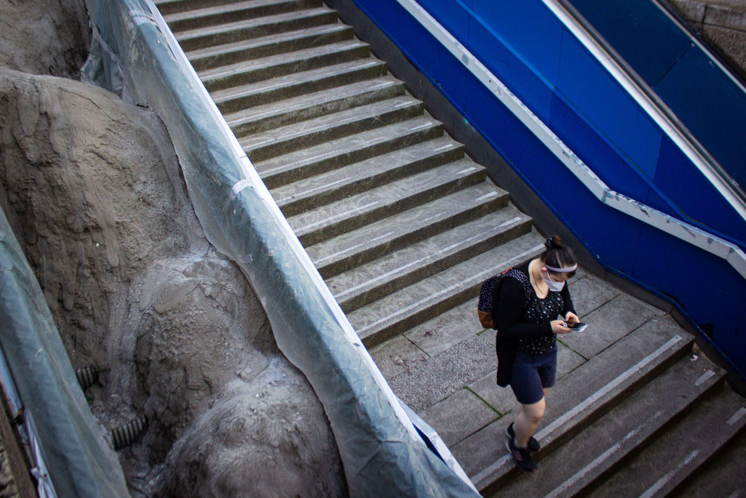 """Muddy Moves"" im Aufbau ||Foto: Stadt Köln"